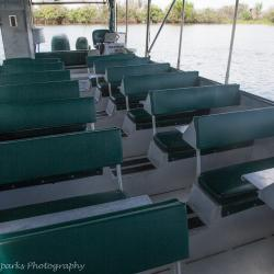 Comfortable padded seating provided on both vessels